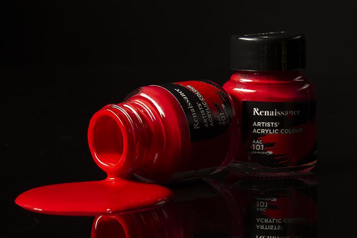 Renaissance Acrylic Coloured Red